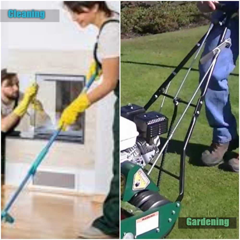 Cleaning and Gardening